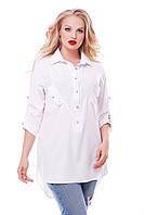 Рубашка женская Стиль белая