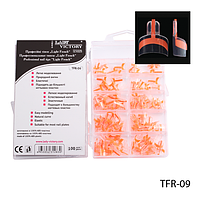 "Типсы TFR-09 - ""Light French Smile"", линия улыбки кораллового цвета (по 100 шт)"