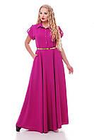 Роскошное платье макси в пол  Алена сирень, фото 1
