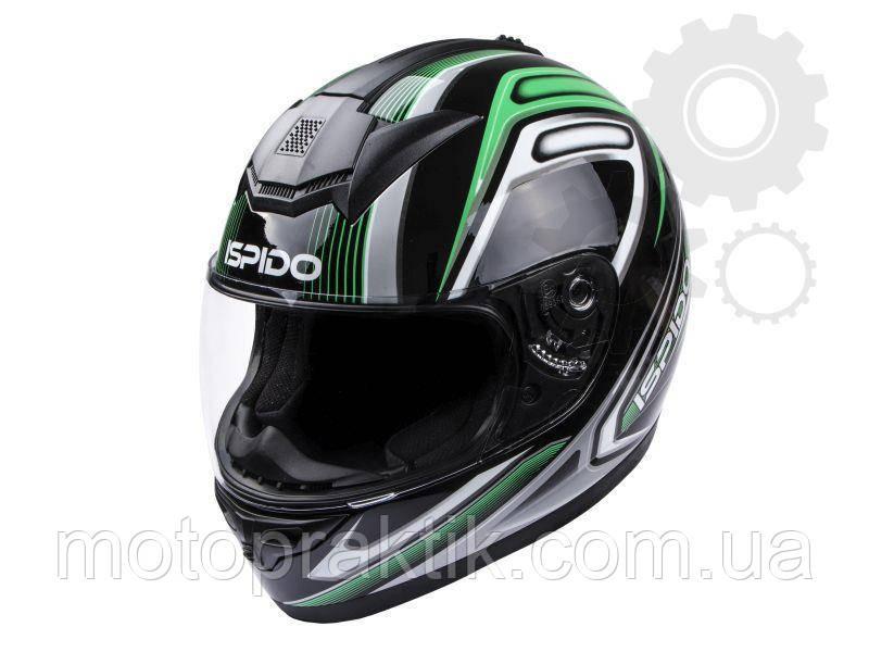 Ispido  Zonda SV Black/Green, Sz.XS Мотошлем интеграл