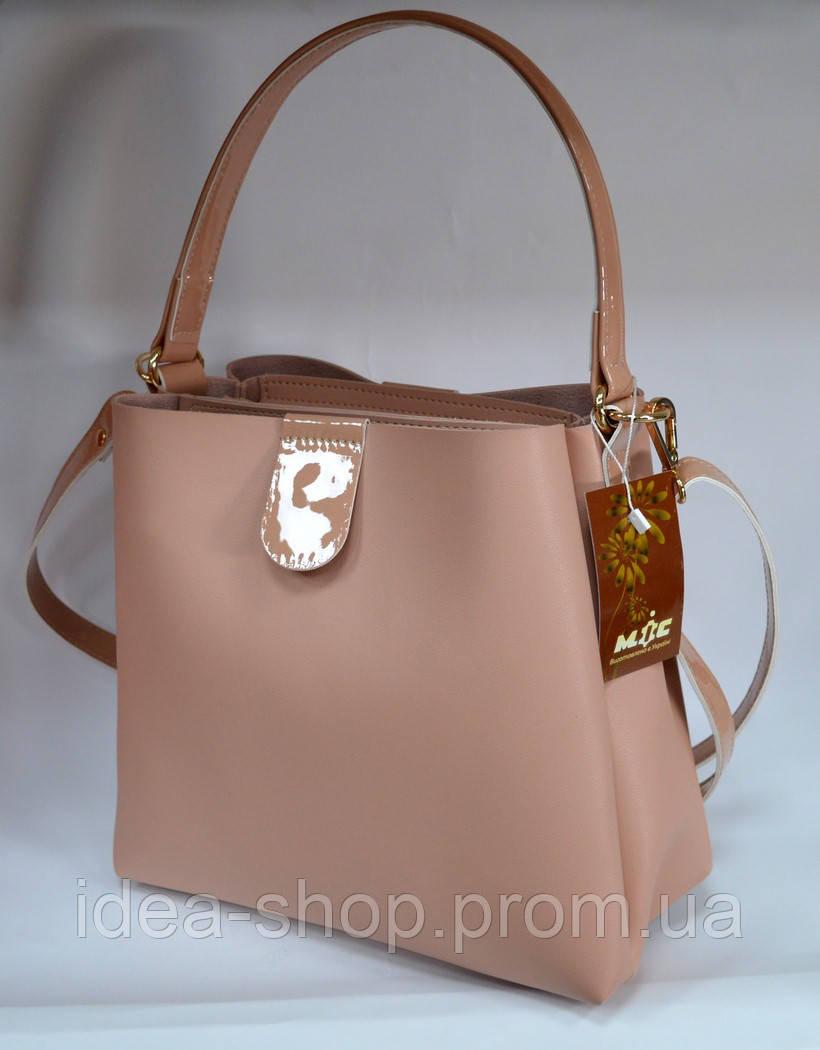 380ee3c65c77 Стильная сумка шоппер цвет модный цвет пудра производство украина, фото 1