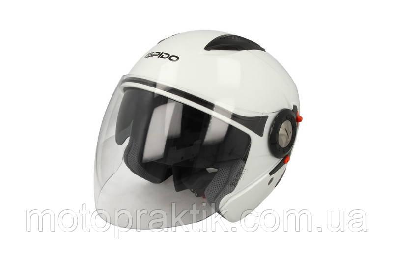 Ispido Jet SV White, XS Мотошлем лицевик с очками