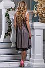 Женское платье нарядное асимметричное персиковый/чёрный летнее, фото 3