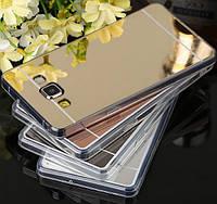 Силиконовый зеркальний чехол на телефоны Samsung Galaxy J3 J320 2016р. зеркало для самсунг золото защита