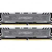 Модуль памяти для компьютера DDR4 16GB (2x8GB) 2666 MHz Ballistix Sport LTGrey MICRON (BLS2C8G4D26BFSBK)