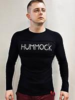 Футболка мужская HUMMOCK черная спортивная с длинным рукавом