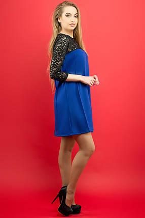 7449ee82a39e Женское молодежное платье Эмма   цвет электрик   размер 44-52, фото 2