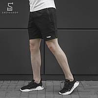 Мужские трикотажные спортивные шорты beZet black'18, черные