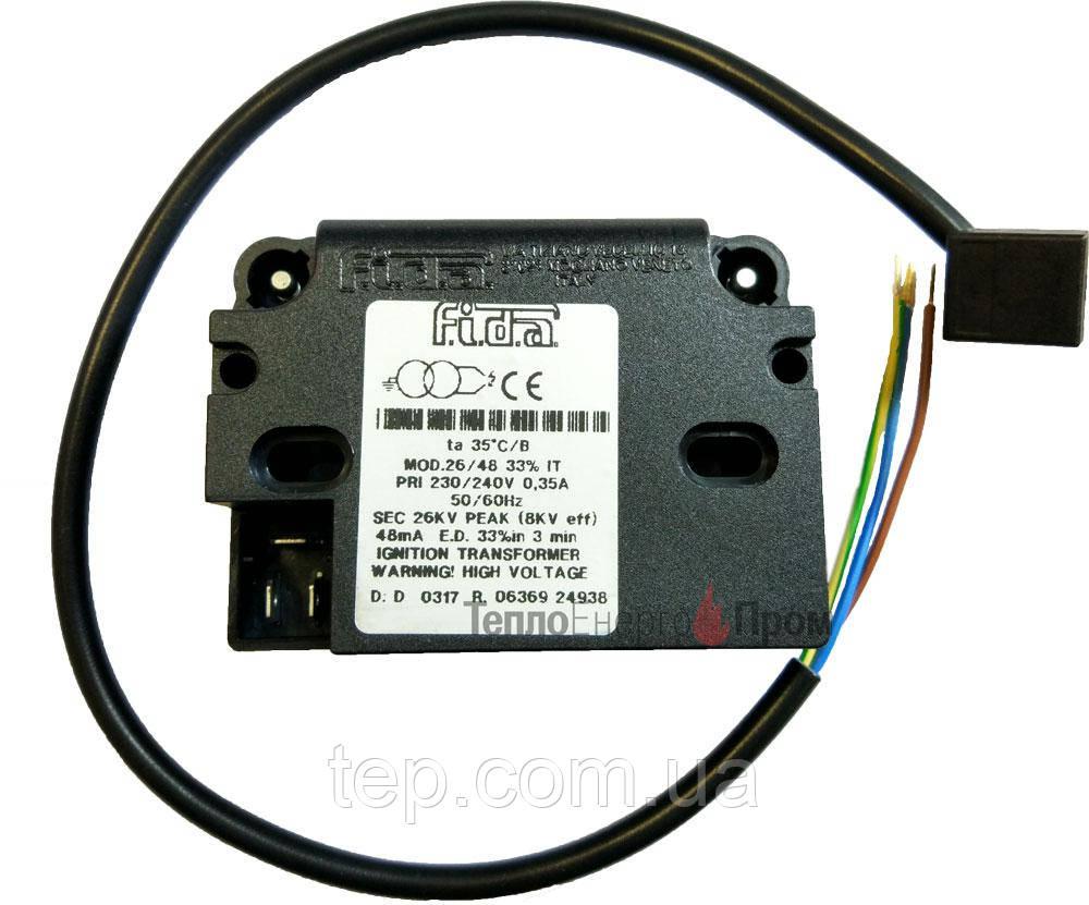 Трансформатор розпалу Fida 26/48 33% IT. У комплекті з кабелем 230В. Giersch 26930