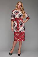 Платье от производителя  Алла красная клетка, фото 1