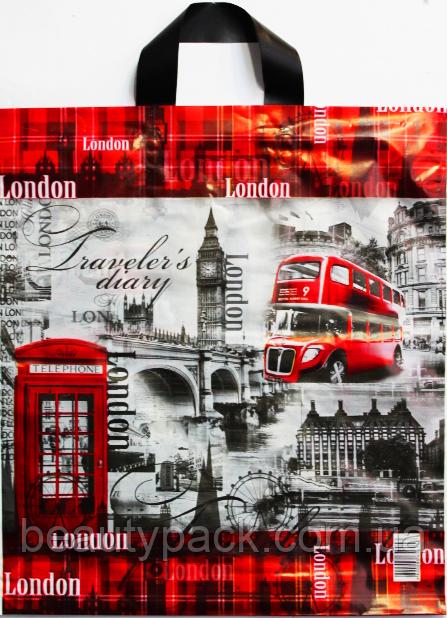Пакет поліетиленовий Петля LONDON 37 х 42 см / уп-25шт