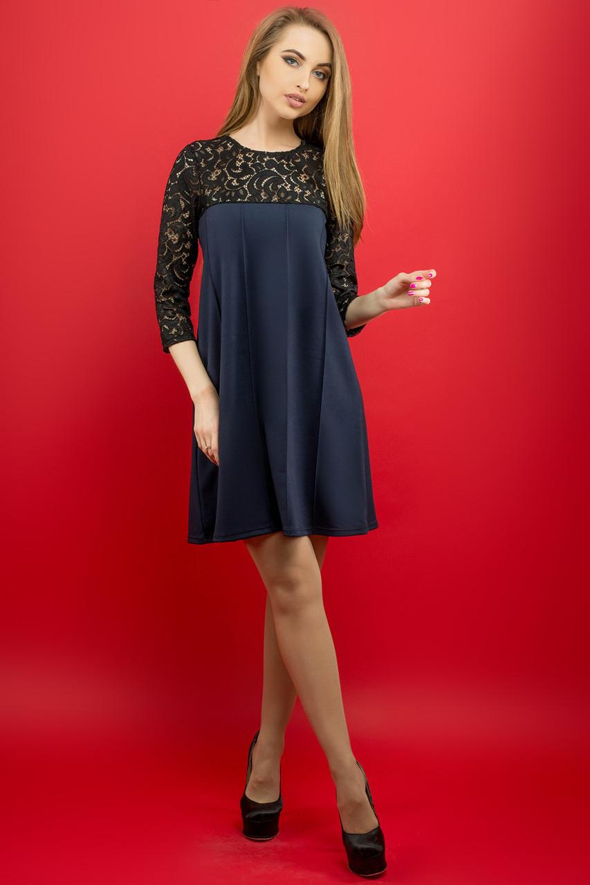 Женское молодежное платье Эмма / цвет синий / размер 44-52