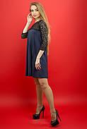 Женское молодежное платье Эмма / цвет синий / размер 44-52, фото 3