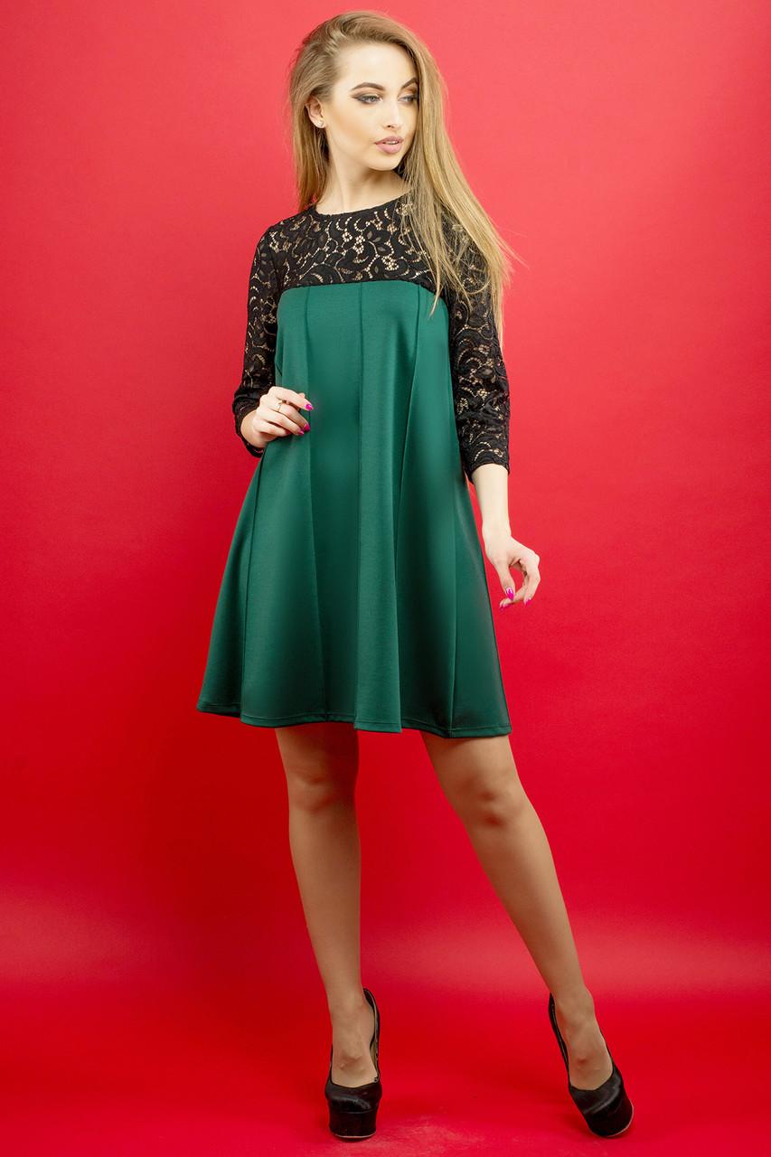 Женское молодежное платье Эмма / цвет зеленый / размер 44-52