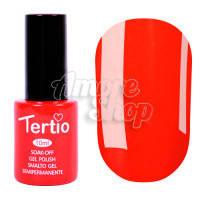 Гель-лак Tertio №009 (морковно-красный, эмаль), 10 мл