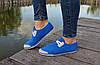 Женские - подростоквые мокасины - чешки, летние голубые, фото 2