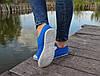 Женские - подростоквые мокасины - чешки, летние голубые, фото 4