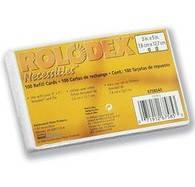 Карточки ROLODEX сменные линовка в блистере 100шт (67553)