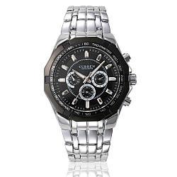 Мужские наручные часы Curren 8084 кварцевые черные