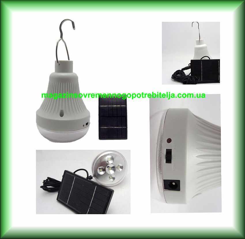Лампа аккумуляторная GD-5001 с солнечной панелью