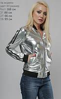 Стильная куртка-бомбер из мягкой экокожи 42-48р, фото 1