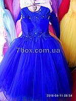 Детское платье бальное Волшебство. Возраст 9-10лет. Синее