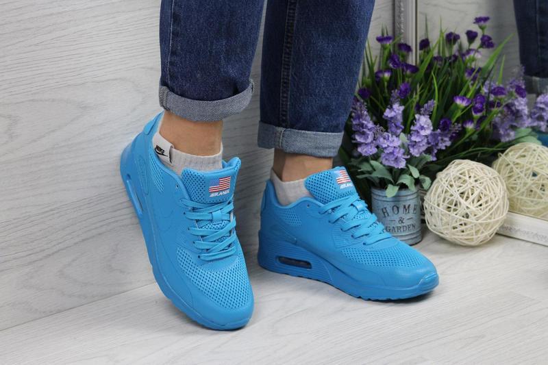 Кроссовки женские Nike Air Max Hyperfuse.Голубые