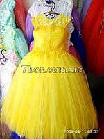 Детское платье бальное Волшебство. Возраст 9-10лет. Желтое