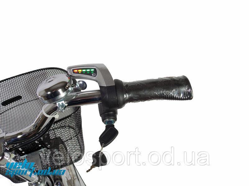 Ручка газа акселератора электровелосипеда 36v с датчиком заряда акб и замком зажигания