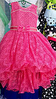 Детское нарядное платье бальное Гиацинт со шлейфом Возраст 6 лет.