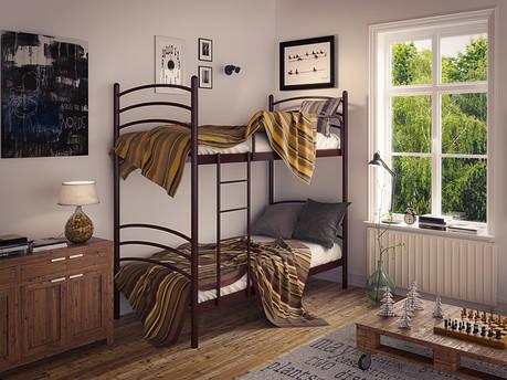 Двухъярусная металлическая кровать Маранта фабрика Tenero, фото 2