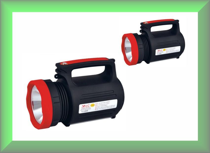 Фонарь-прожектор аккумуляторный YJ-2886 (дальность свечения 900 метров)