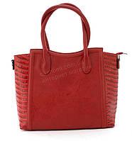 Вместительная прочная модная сумка из эко кожи высокого качества  art. 6024 красная, фото 1