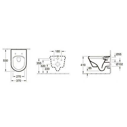Комплект:VILLEROY & BOCH OMNIA ARCHITECTURE унитаз+сиденье soft closing+GROHE инсталляция, фото 2