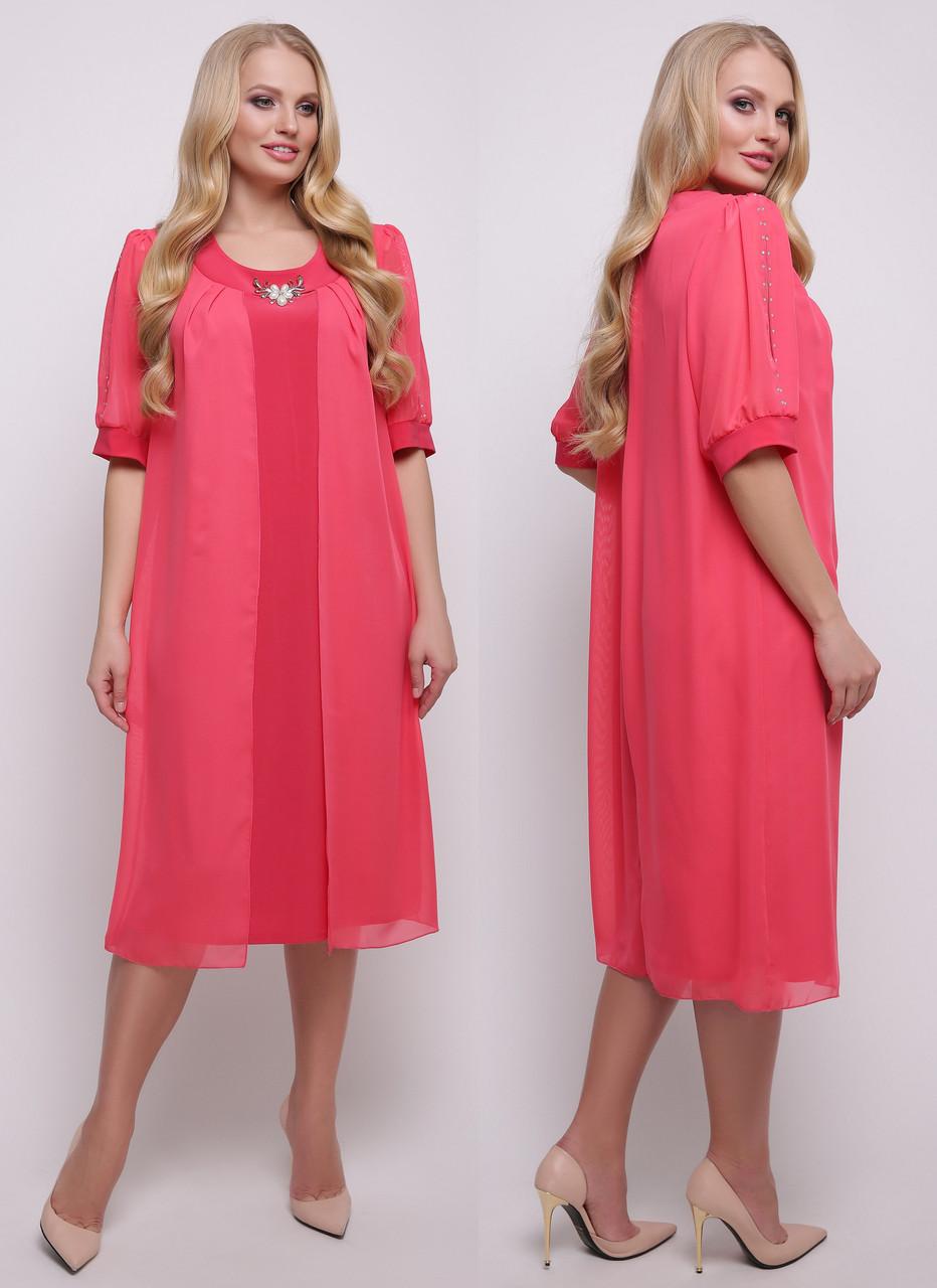 048f82733a6 Платье больших размеров вечернее прямое легкое нарядное женское летнее  трикотаж масло с шифоном