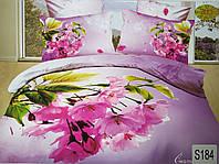 Сатиновое постельное белье евро 3D ELWAY S184