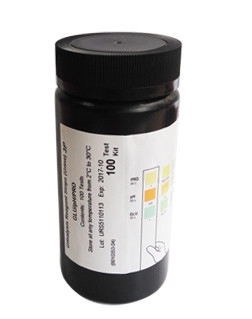 Тест-полоски для анализа мочи 3 параметра: глюкоза, белок, ацетон (100 шт.)