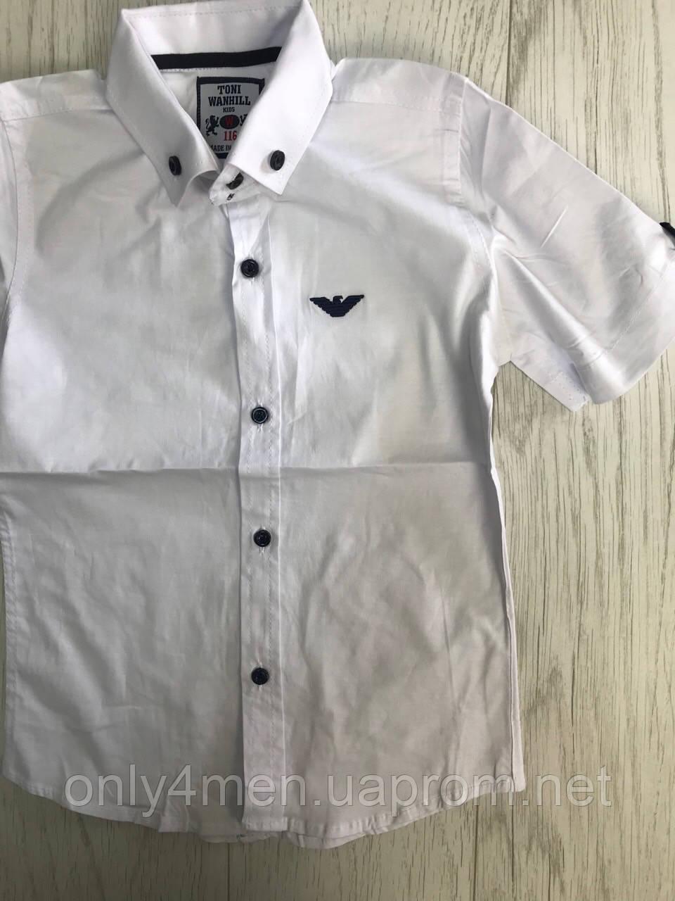 Рубашка с коротким рукавом для мальчика 116-164 см
