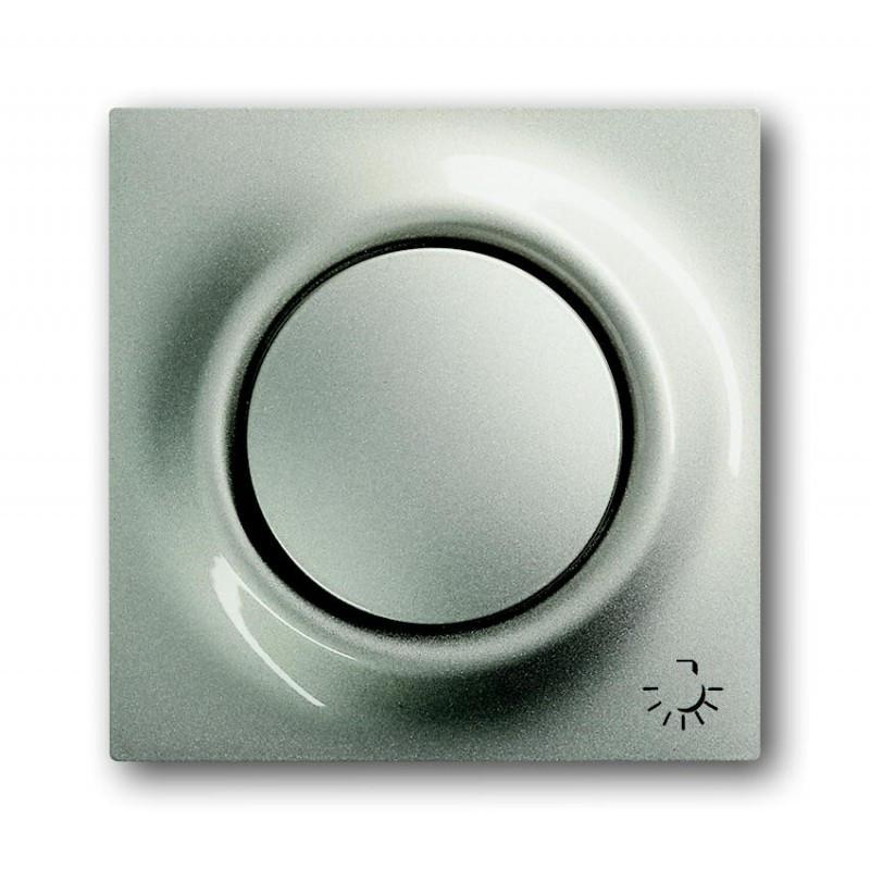 """Клавиша для выключателя с символом """"свет"""" ABB Busch Jaeger Impuls 1789 LI-79 шампань металлик"""