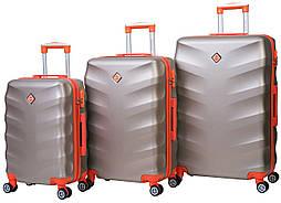 Набор чемоданов на колесах Bonro Next Шампань 3 штуки