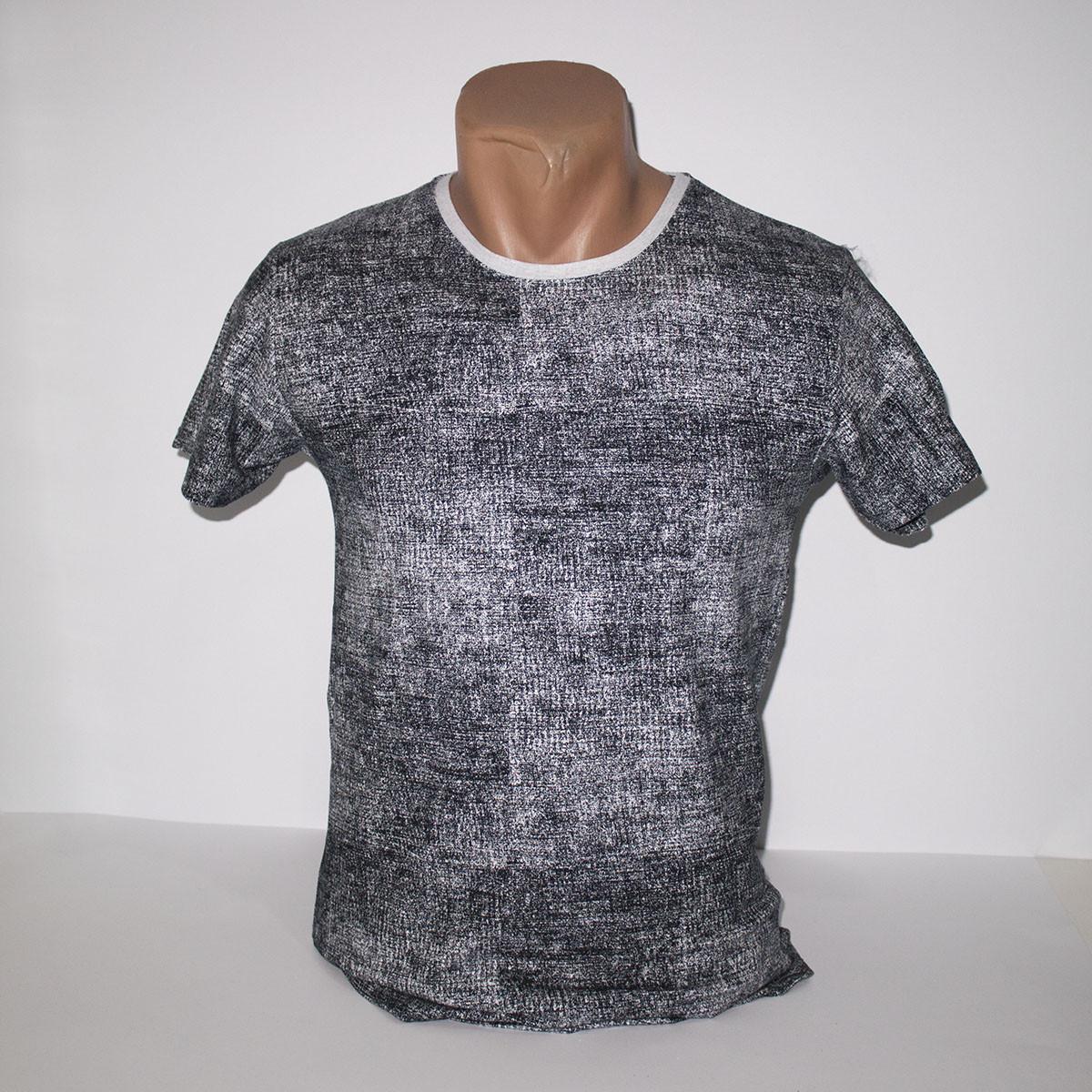 Мужская серая футболка Лайкра пр-во Турция N2989