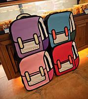 Оригинальные 2D рюкзаки Красивые прочные на каждый день Яркие цвета Отличный подарок Код: КГ4462