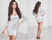 Т1100 Платье в пайетках, фото 3
