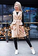 Женское кашемировое пальто без рукавов