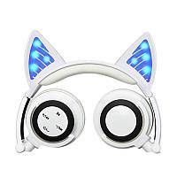 Наушники LINX BL108A Bluetooth наушники с кошачьими ушками LED Белые (SUN0480)