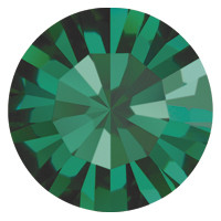 Пришивные стразы в цапах Preciosa (Чехия) ss40 Emerald/золото