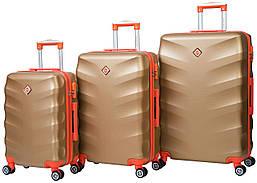 Набор чемоданов на колесах Bonro Next Золотой 3 штуки