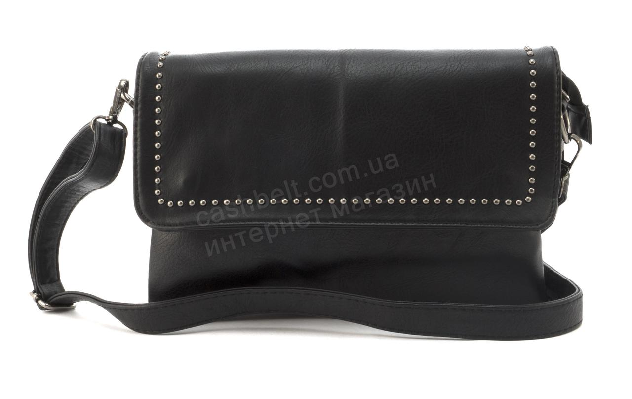 Небольшая вместительная женская сумочка барсетка art. 308 черная