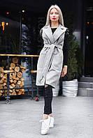 Женское кашемировое пальто с накладными карманами