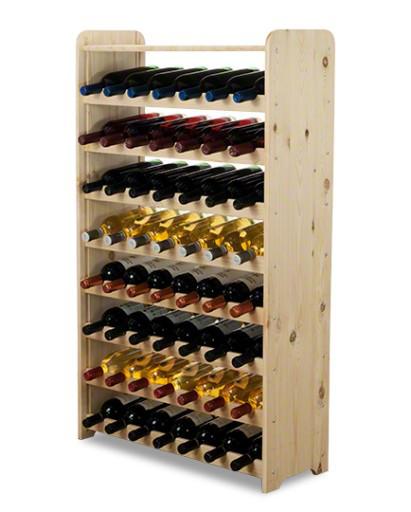 Винна полиця дерев'яна RW-3-56P для пляшок 56